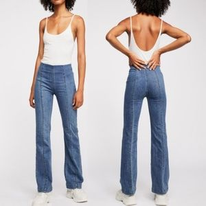 Free People High Rise Slim Pull Denim Jeans 25R